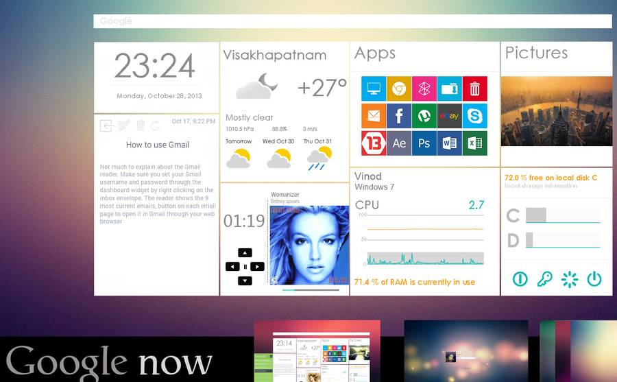 Google Now interface