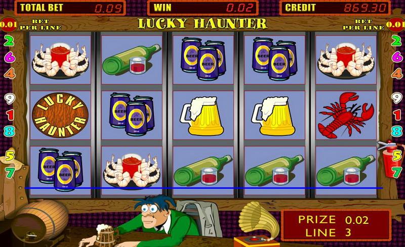 Выиграйте деньги в игровом автомате «lucky-haunter»